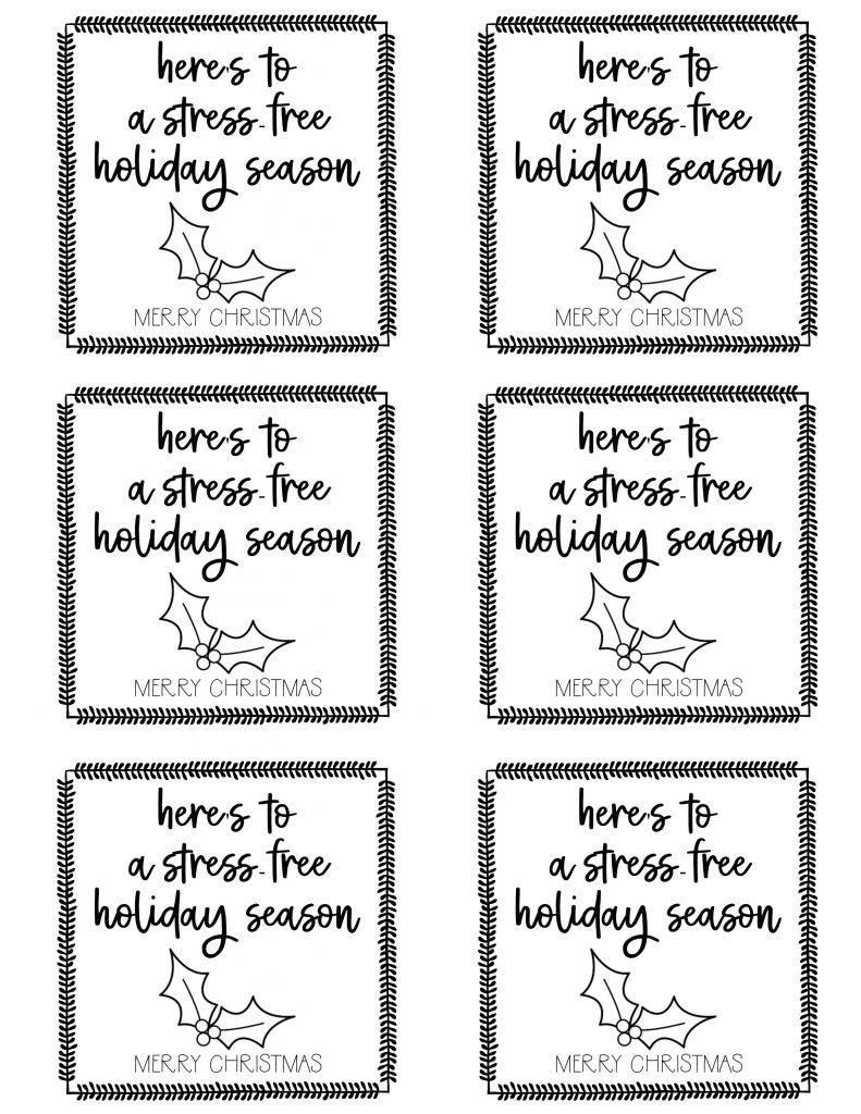 photo relating to Printable Christmas Tags Black and White called Cost-free Printables for Mates, Neighbors, Teachersetc