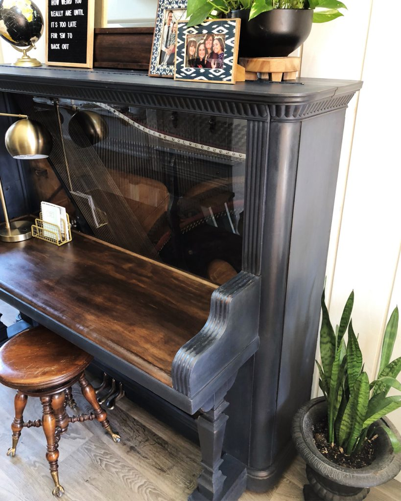Piano Desk Makeover All Things Thrifty