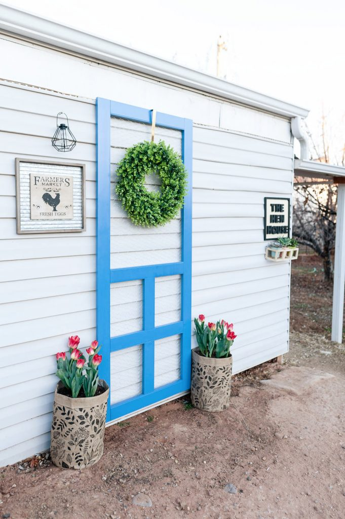 diy chicken coop ideas. Plus all of the JoAnn Spring Decor is 50% off right now! & Backyard Chicken Coop Decor Ideas that POP | All Things Thrifty