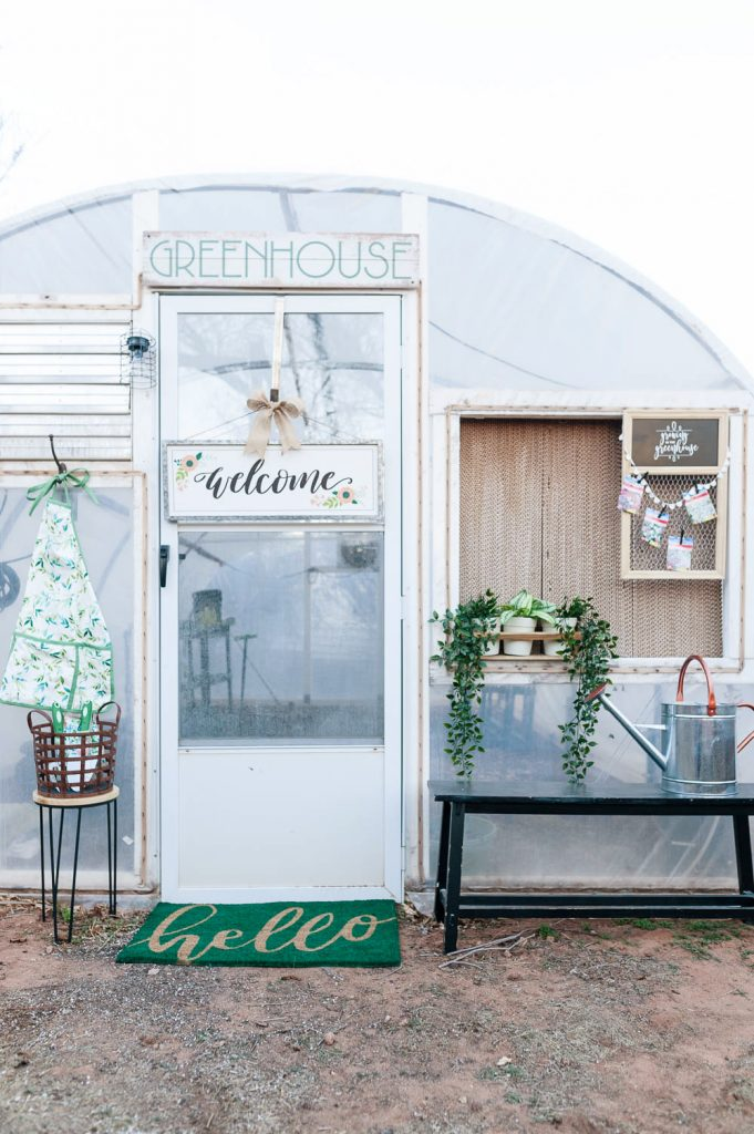 Cute Greenhouse Decor Ideas | All Things Thrifty