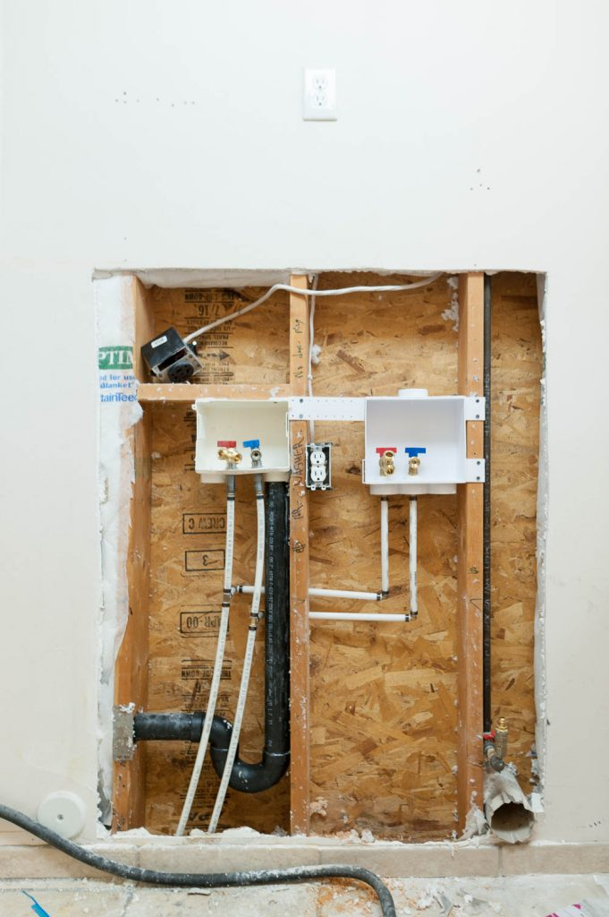Plumbing For Double Washer And Dryer