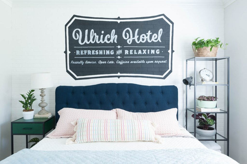 Image of: Guest Bedroom Ideas With A Hip Hotel Vibe Reveal All Things Thrifty