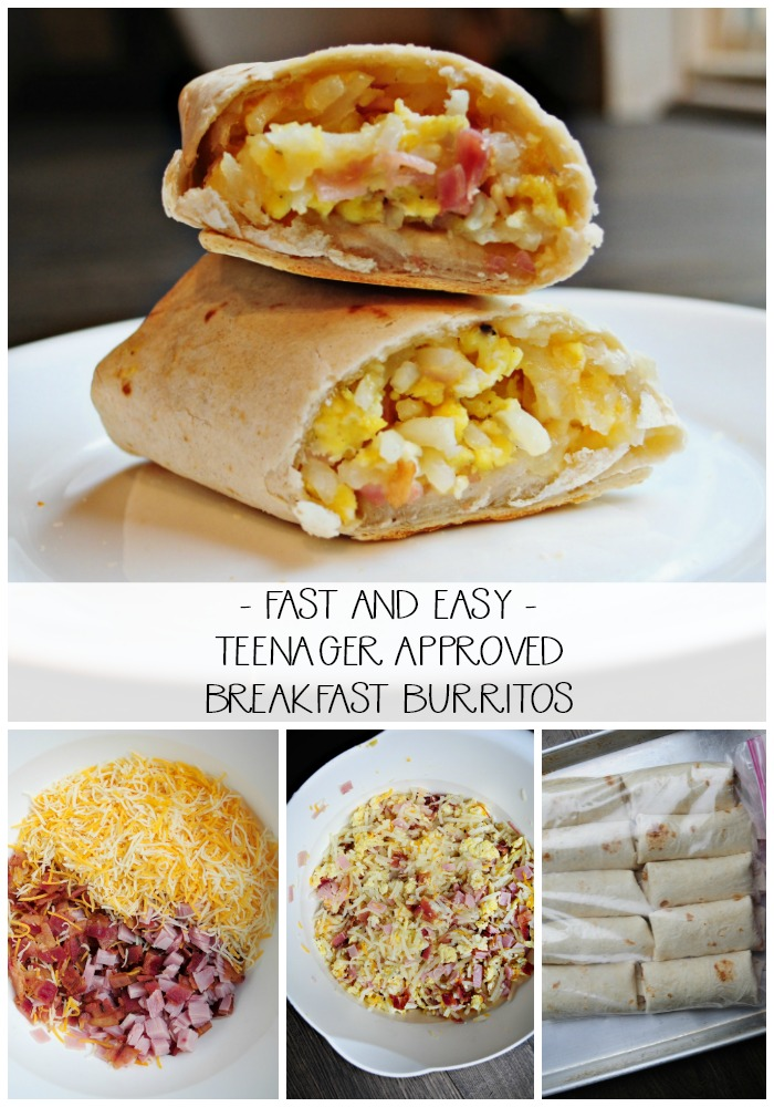 343638f5966 Super Easy Breakfast Burritos + Ideas for feeding TEENS!
