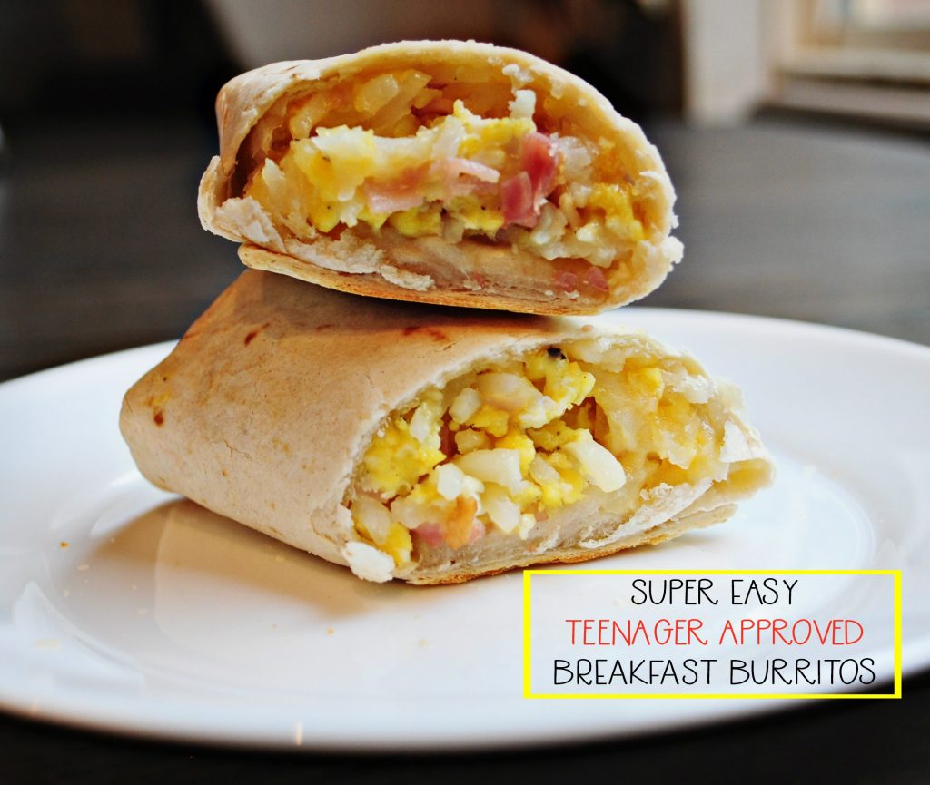 super easy breakfast burritos + ideas for feeding teens! | all