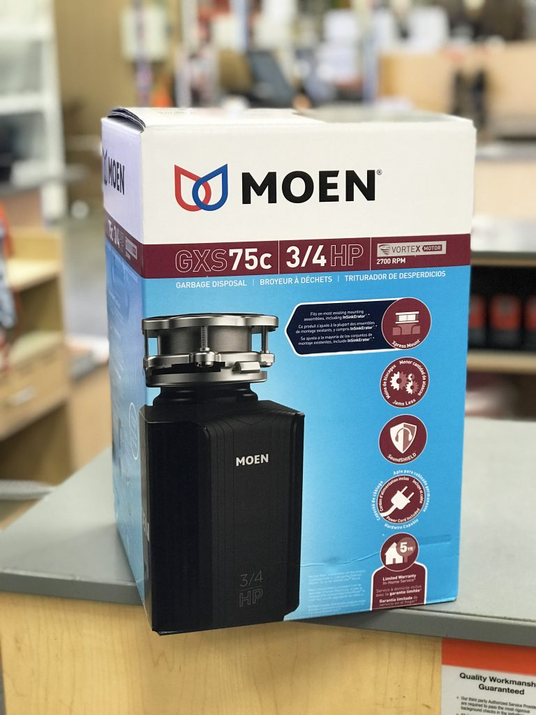 MOEN garbage disposal with PLUG | All Things Thrifty