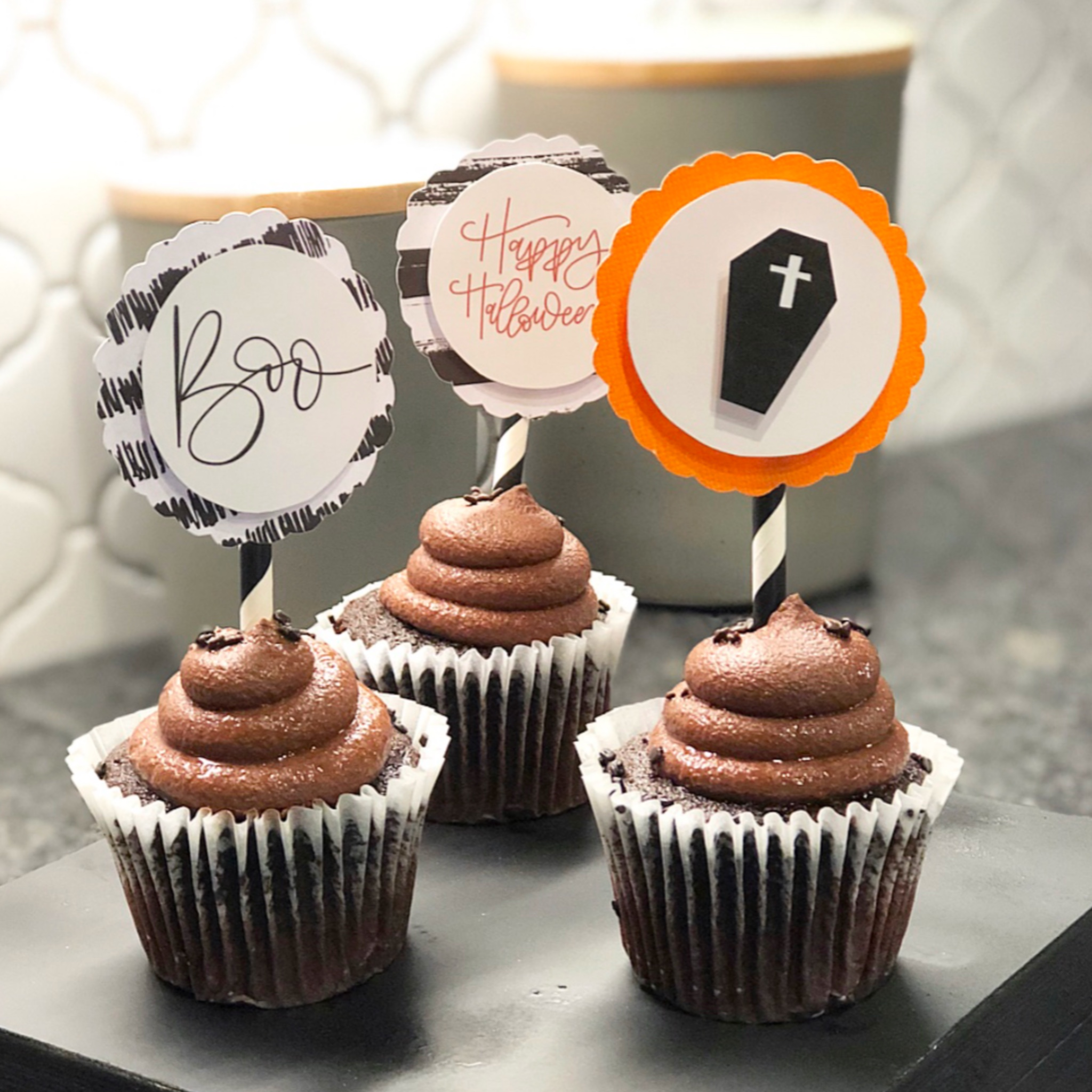 Download Halloween Candy Cupcake Toppers Pictures
