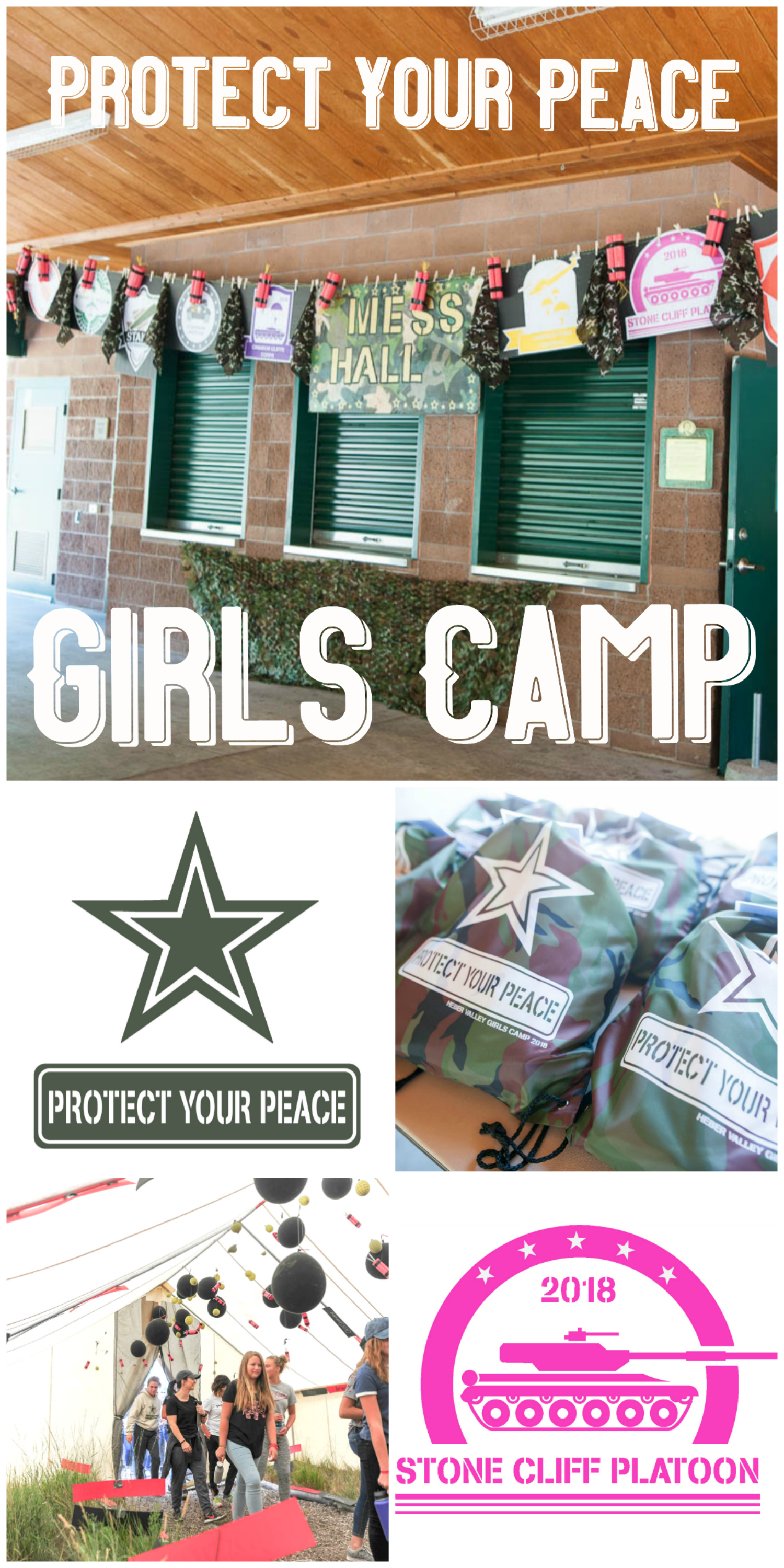 Girls Camp Army Military Battalion Theme | All Things Thrifty