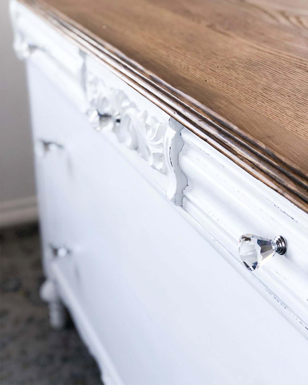 Antique Dresser Makeover How To Address Damaged Veneer All Things Thrifty